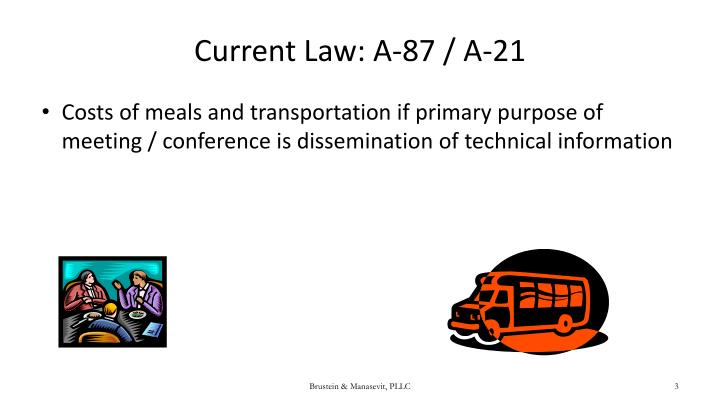 Current Law: A-87 / A-21