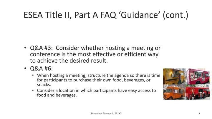 ESEA Title II, Part A FAQ 'Guidance' (cont.)