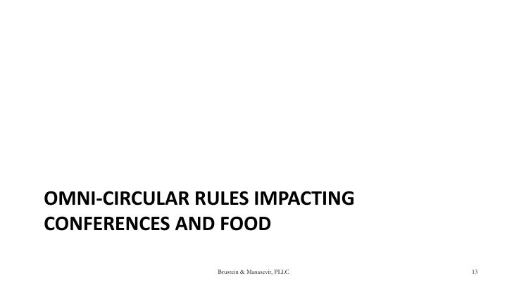 Omni-Circular Rules Impacting Conferences and Food