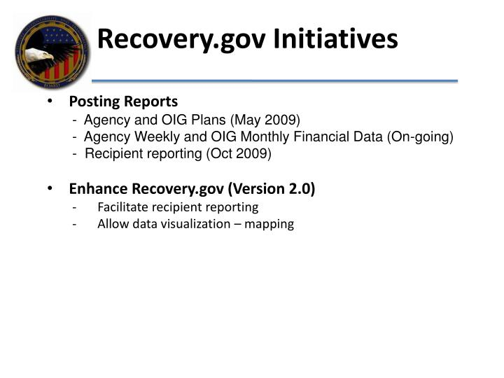 Recovery.gov Initiatives