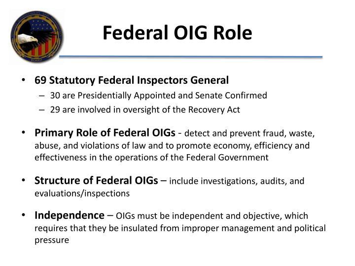 Federal OIG Role