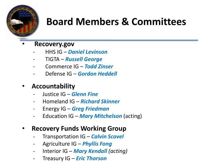Board Members & Committees