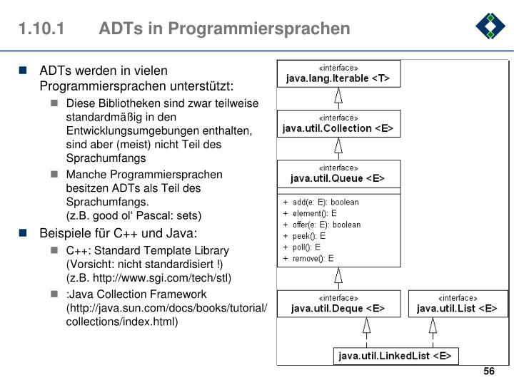 1.10.1ADTs in Programmiersprachen