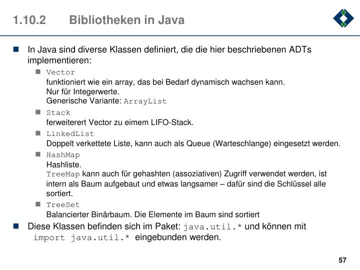 1.10.2Bibliotheken in Java