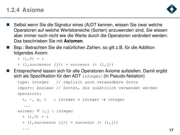 1.2.4Axiome