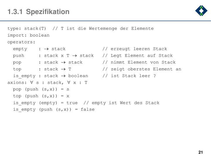 1.3.1Spezifikation