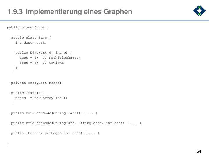 1.9.3Implementierung eines Graphen