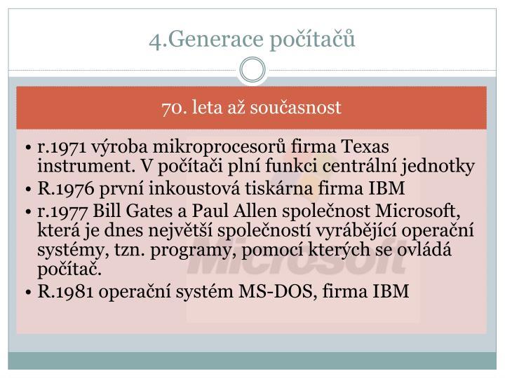 4.Generace počítačů