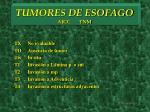 tumores de esofago ajcc tnm