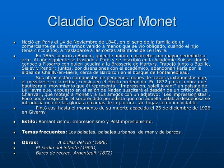 Claudio Oscar Monet