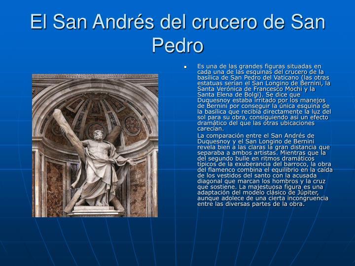 El San Andrés del crucero de San Pedro