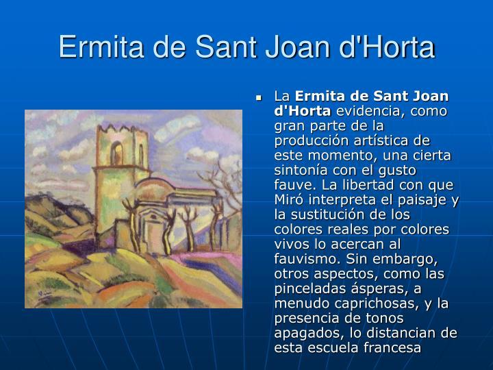Ermita de Sant Joan d'Horta