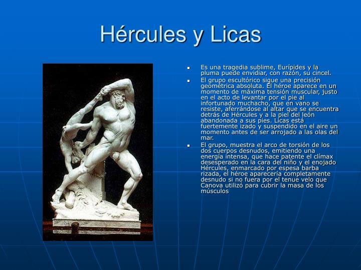 Hércules y Licas