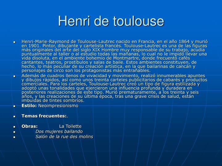 Henri de toulouse