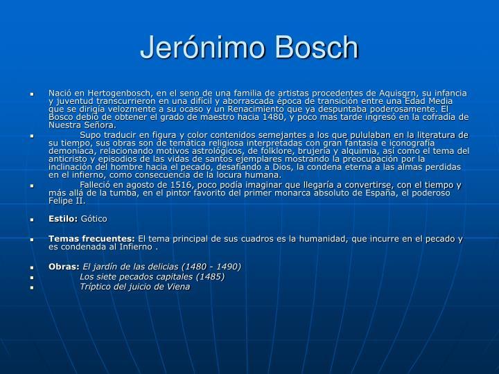Jerónimo Bosch
