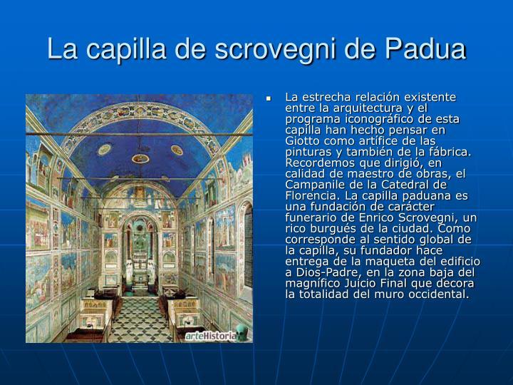 La capilla de scrovegni de Padua