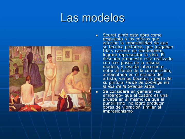 Las modelos
