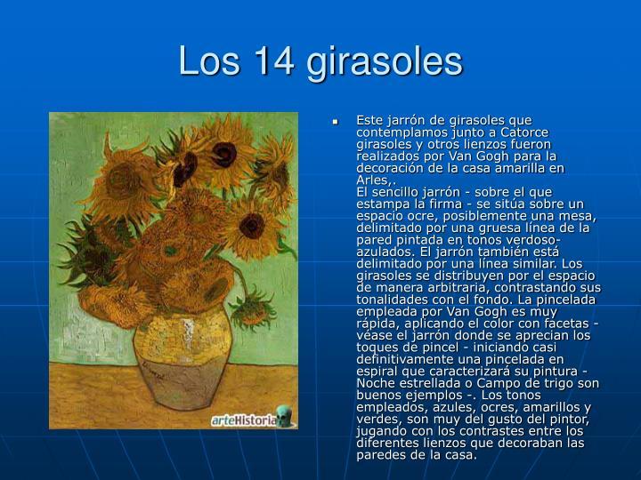Los 14 girasoles