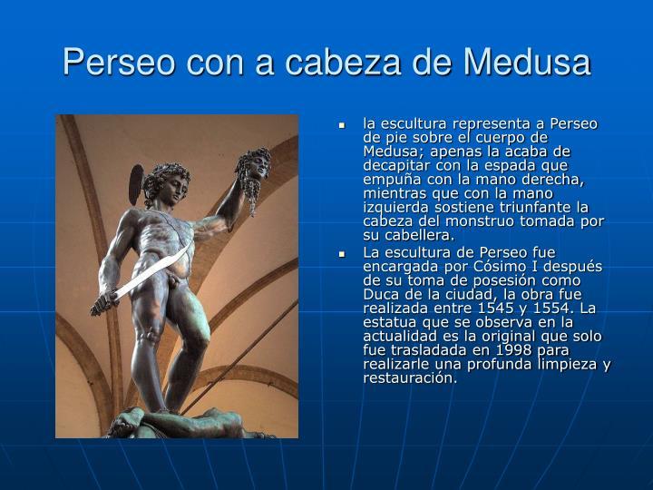Perseo con a cabeza de Medusa
