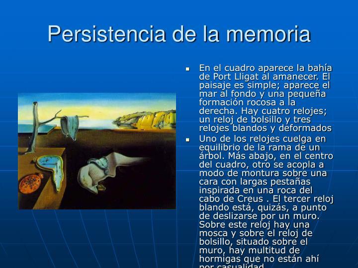 Persistencia de la memoria