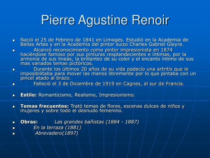 Pierre Agustine Renoir