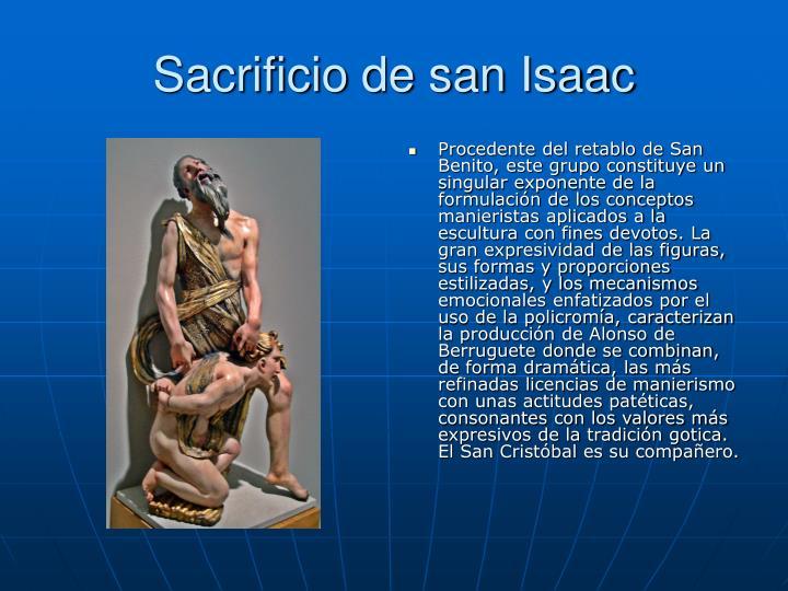 Sacrificio de san Isaac