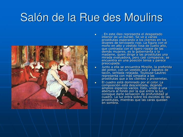 Salón de la Rue des Moulins