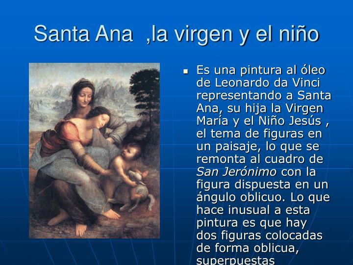 Santa Ana  ,la virgen y el niño