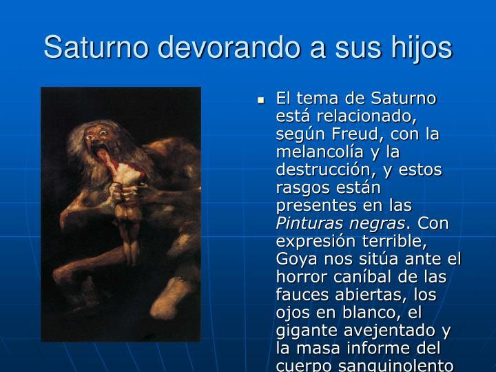 Saturno devorando a sus hijos