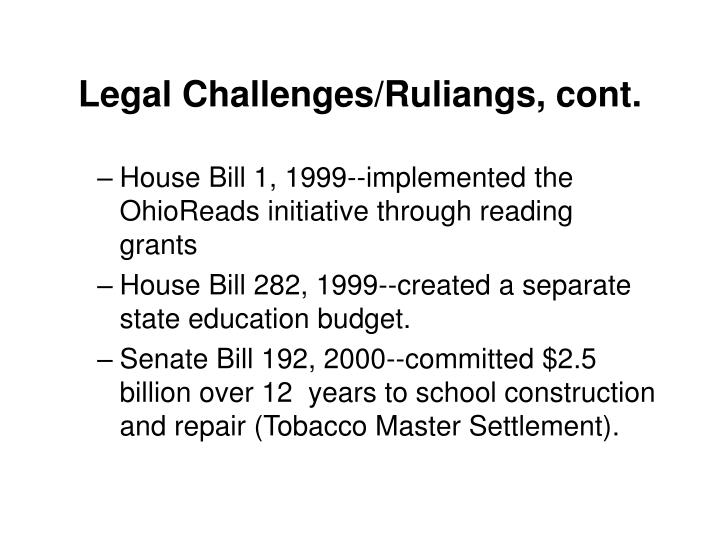 Legal Challenges/Ruliangs, cont.