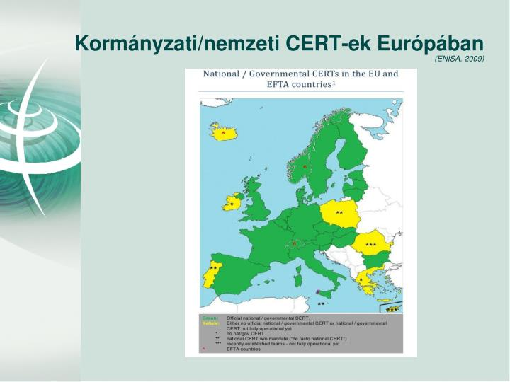 Kormányzati/nemzeti CERT-ek Európában