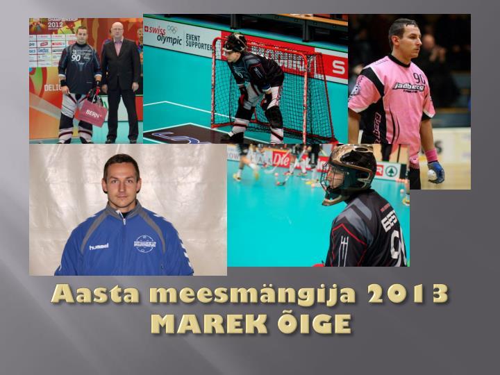 Aasta meesmängija 2013