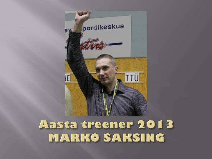 Aasta treener 2013