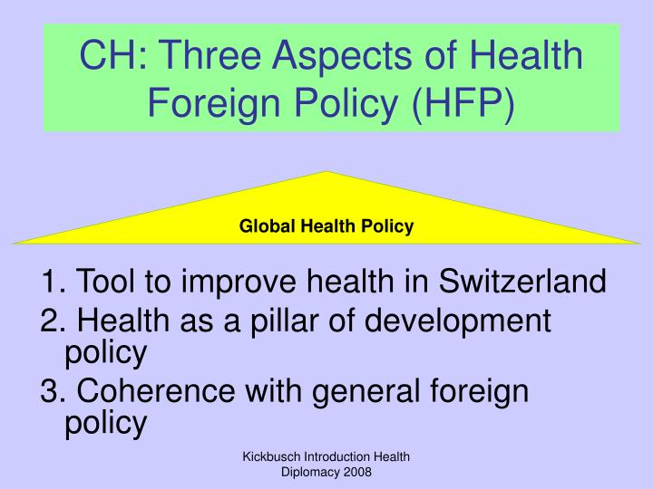 CH: Three Aspects of Health Foreign Policy (HFP)