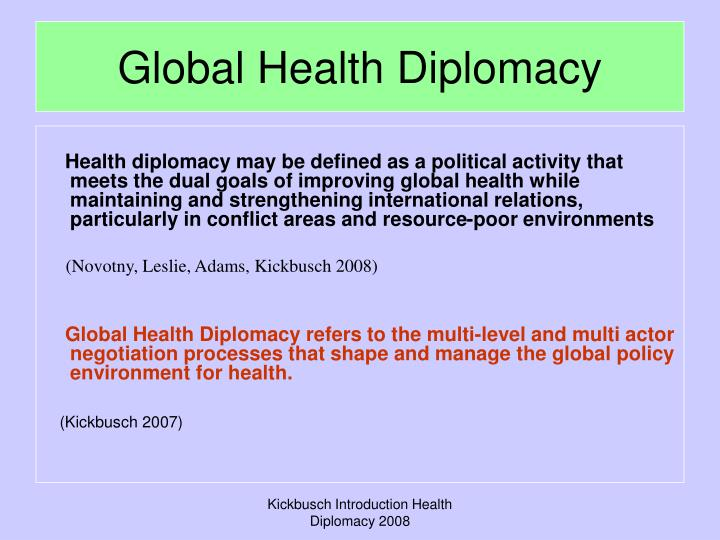 Global Health Diplomacy