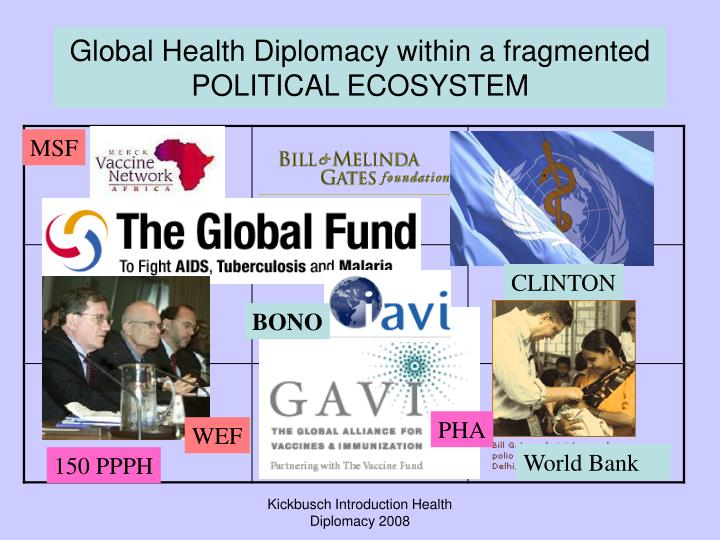 Global Health Diplomacy within a fragmented POLITICAL ECOSYSTEM