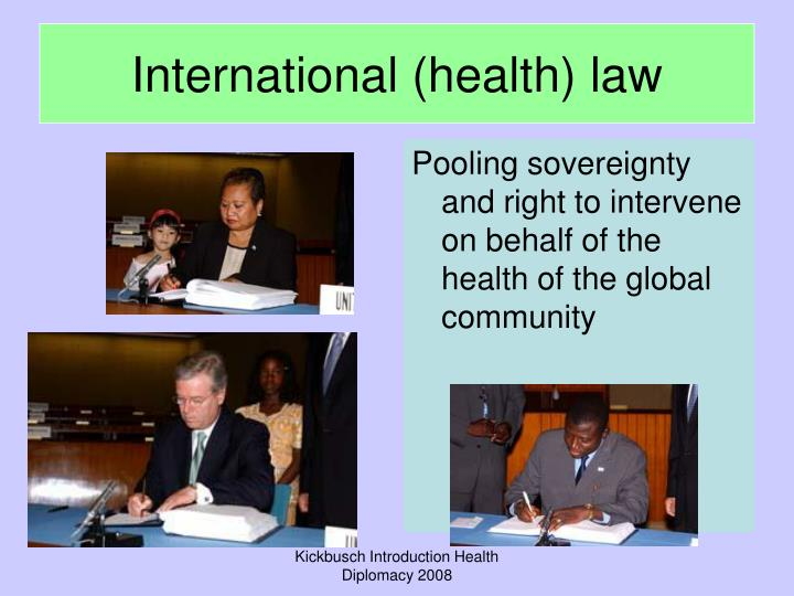 International (health) law