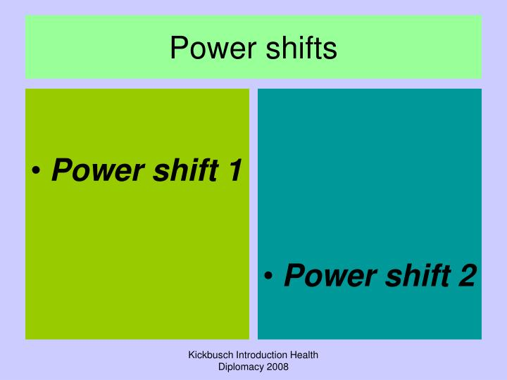 Power shift 1