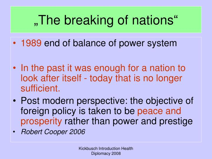 """The breaking of nations"""