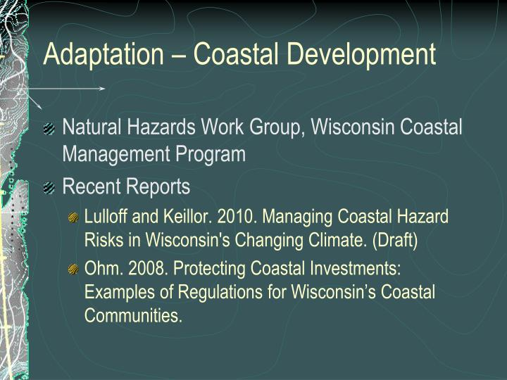 Adaptation – Coastal Development