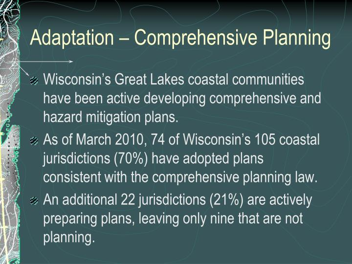 Adaptation – Comprehensive Planning