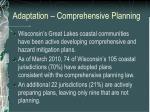 adaptation comprehensive planning