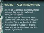 adaptation hazard mitigation plans