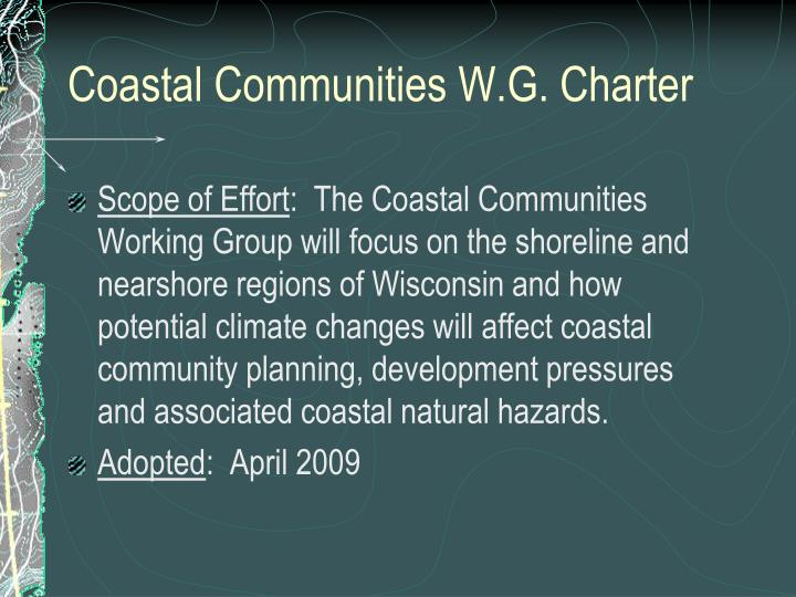 Coastal communities w g charter