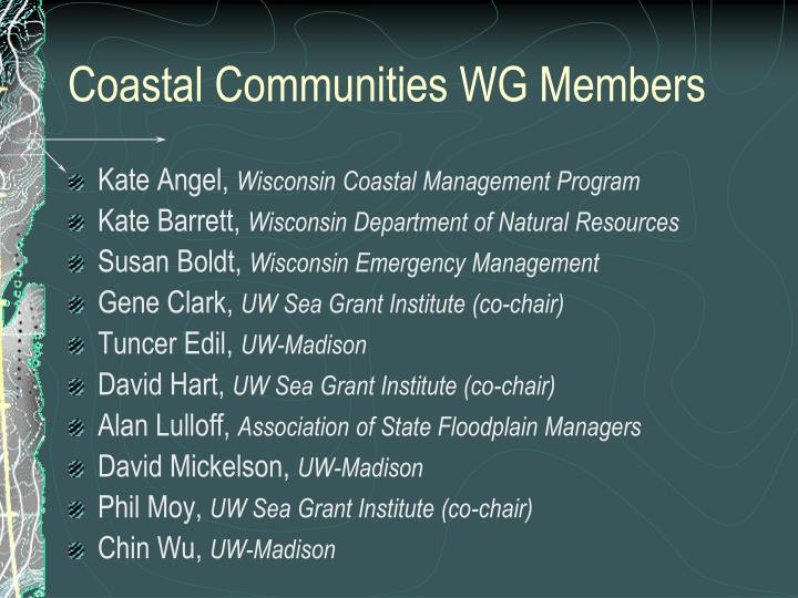 Coastal Communities WG Members