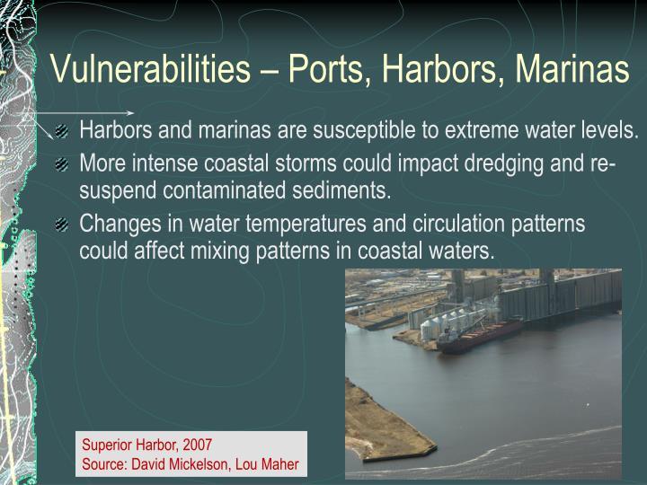 Vulnerabilities – Ports, Harbors, Marinas