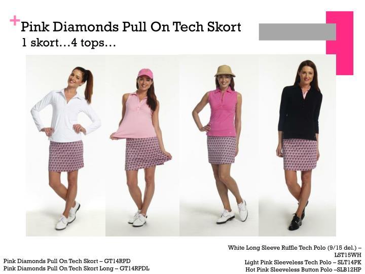 Pink Diamonds Pull On Tech