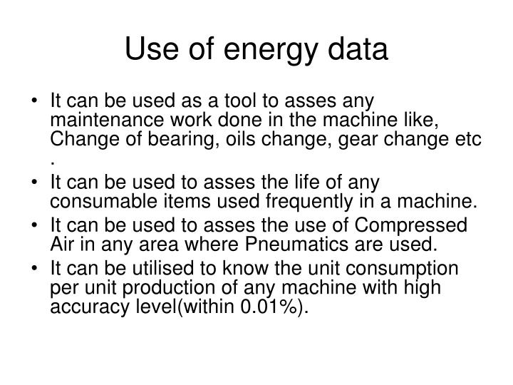 Use of energy data
