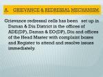 a grievance redressal mechanism