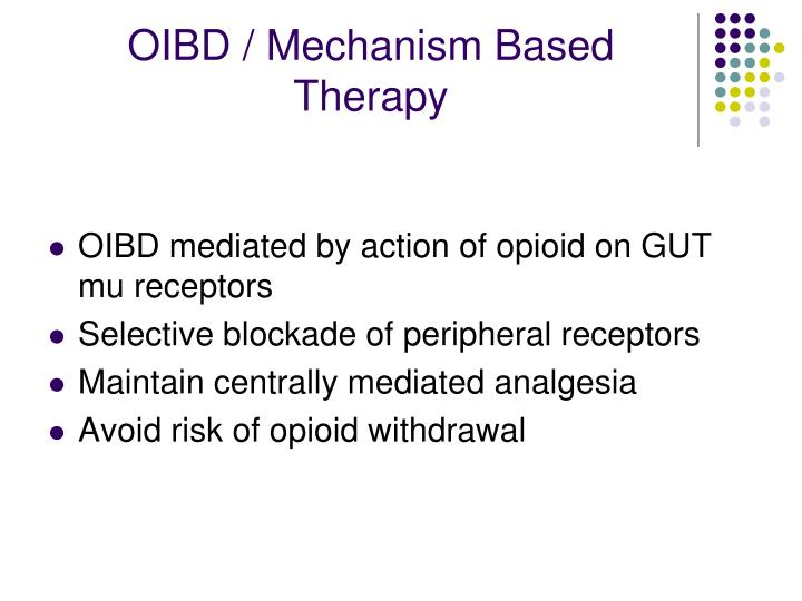 OIBD / Mechanism Based Therapy